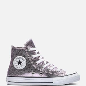 Converse Kids' Chuck Taylor All Star Hi - Top Trainers - Pink Foam