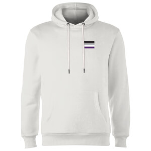 Asexual Flag Hoodie - White