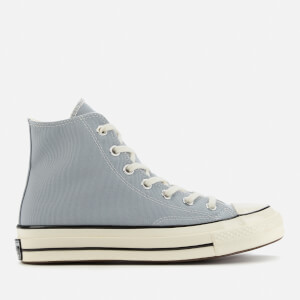Converse Chuck 70 Canvas Hi-Top Trainers - Wolf Grey/Black/Egret