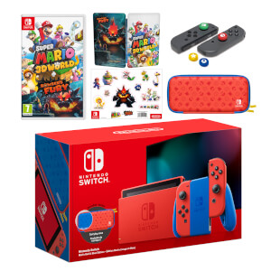 Nintendo Switch Mario Red & Blue Edition + Super Mario 3D World + Bowser's Fury Pack