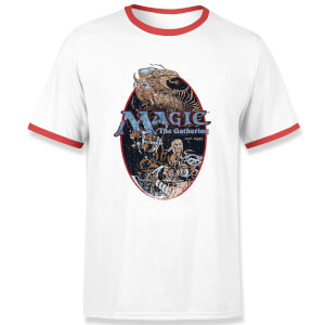 Magic: the Gathering Est. 1993 Unisex Ringer T-Shirt - White / Red