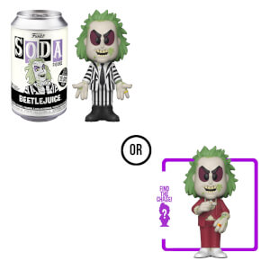 Beetlejuice Vinyl Soda in a Collector Can
