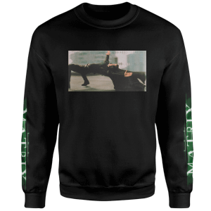 The Matrix Logo Code Sweatshirt - Noir