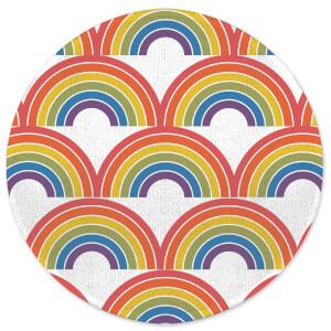 Earth Friendly Rainbows Round Bath Mat