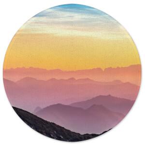 Earth Friendly Rainbow Horizon Round Bath Mat