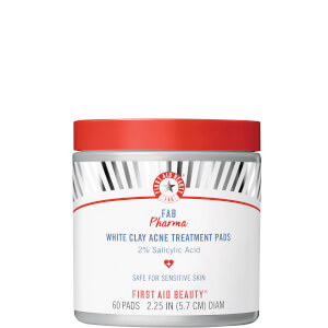 First Aid Beauty Pharma White Clay Acne Treatment Pads with 2% Salicylic Acid 50ml