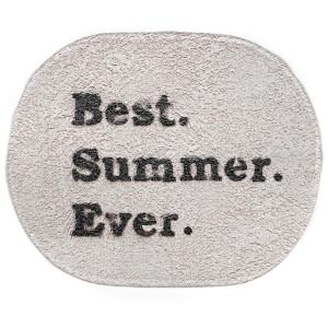 Earth Friendly Best Summer Ever. Oval Bath Mat