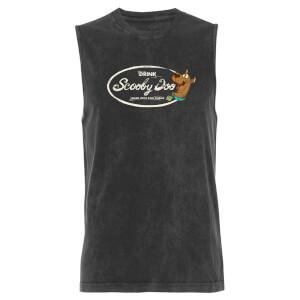 Scooby Doo Drink - Black Acid Wash Men's Vest