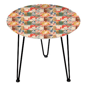Decorsome Tom & Jerry Wooden Side Table