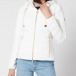 Barbour International Women's Grid Quilt Jacket - Optic White
