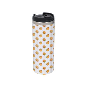 Burgers Stainless Steel Thermo Travel Mug - Metallic Finish
