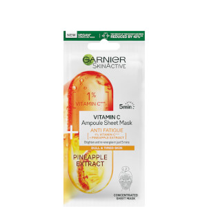 Garnier SkinActive Anti Fatigue Ampoule Sheet Mask - Pineapple and 1% Vitamin C 15g