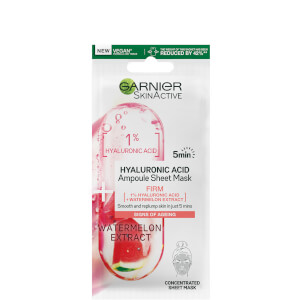 Garnier SkinActive Firming Ampoule Sheet Mask - Watermelon and 1% Hyaluronic Acid 15g