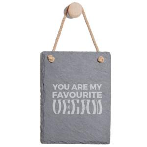 You Are My Favourite Vegan Engraved Slate Memo Board - Portrait