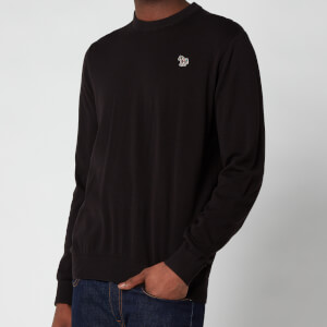 PS Paul Smith Men's Zebra Logo Crewneck Sweatshirt - Black