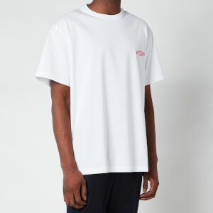 Wooyoungmi Men's Basic Back Logo T-Shirt - White/Pink