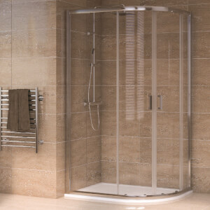 Aqualux Offset Quadrant 1000 x 800mm Right Hand Shower Enclosure and Tray Package