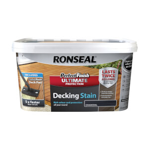 RONSEAL P/FINISH ULT DECK STAIN CHARCOAL