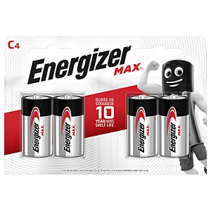 Energizer MAX Alkaline C Batteries - 4 Pack