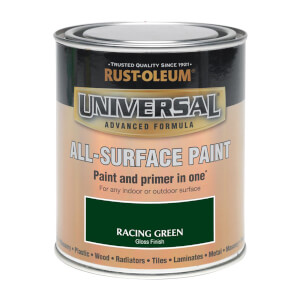 Rust-Oleum Universal All Surface Gloss Paint & Primer - Racing Green - 250ml