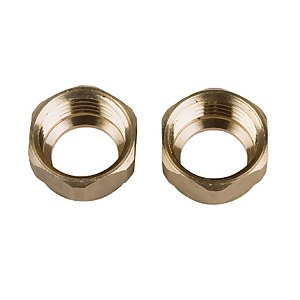 Compression Nut - Brass - 15mm - 2 Pack