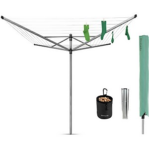 Brabantia Lift-O-Matic 4 Arm Rotary Airer - 50m