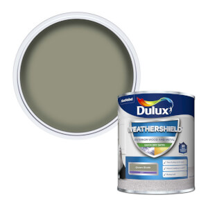 Dulux Weathershield Exterior Quick Dry Satin Paint - Green Glade - 750ml