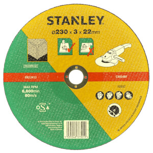 Stanley 230mm Stone Cutting Disc - STA32090-QZ