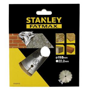 Stanley Fatmax Diamond Disc 115mm Seg Rim - STA38102-XJ
