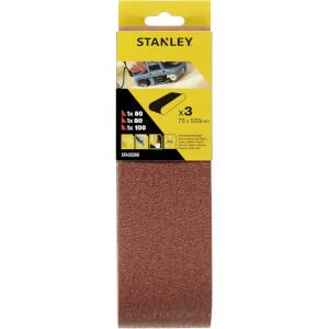 Stanley Belt Sander Belts 75x533 Mixed - STA33206-XJ