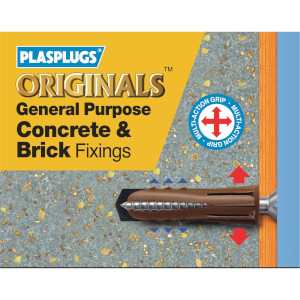 General Purpose Concrete Brick Fixings - 50 Pack
