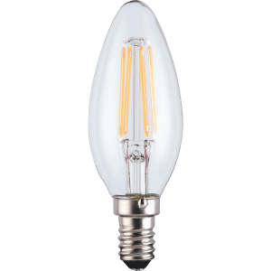 LED Filament Candle SES 2.5W Light Bulb