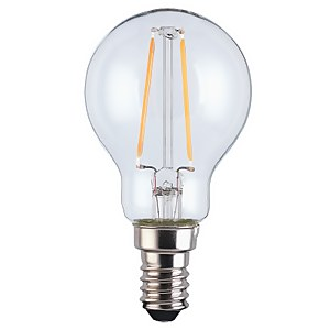 LED Filament Mini Globe SES 2.5W Light Bulb