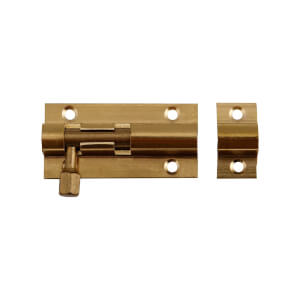 Straight Bolt - Brass - 51mm