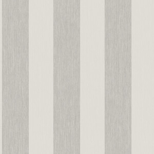 Grandeco Bromley Stripe Pale Silver Wallpaper