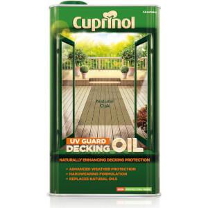 Cuprinol UV Guard Decking Oil Natural Oak - 5L
