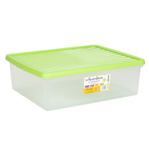 Wham 23L Storage Box and Lime Green Lid