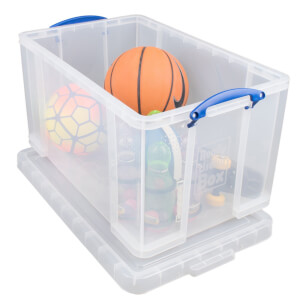 Really Useful Storage Box - Clear - 84L