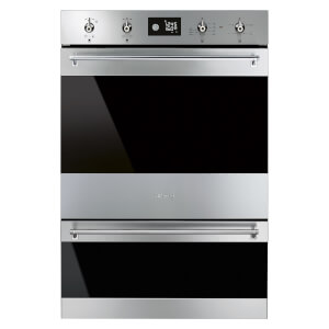 Smeg DOSP6390X 60cm Classic Double Pyrolytic Electric Oven - Stainless Steel