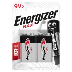 Energizer MAX Alkaline 9V Batteries - 2 Pack
