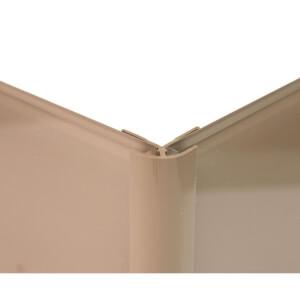 Zenolite Colour Matched PVC External Corner - 250cm - Mocha