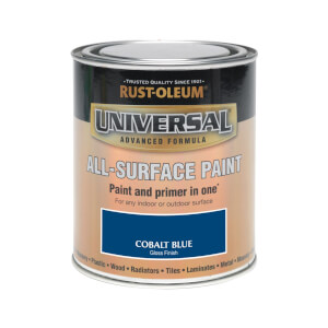 Rust-Oleum Universal All Surface Gloss Paint & Primer - Cobalt Blue - 750ml