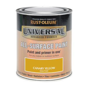 Rust-Oleum Universal All Surface Gloss Paint & Primer - Canary Yellow - 250ml