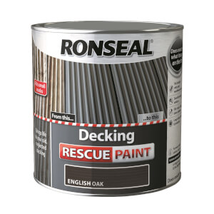 Ronseal Decking Rescue Paint English Oak - 2.5L
