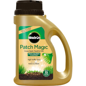 Miracle-Gro Patch Magic Grass Seed, Feed & Coir - 10 Patch Jug