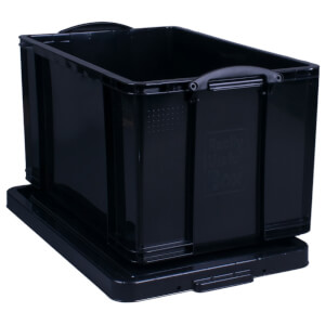 Really Useful Storage Box - Black - 84L