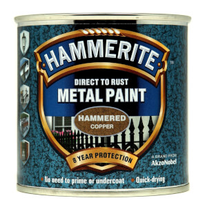 Hammerite Copper - Hammered Exterior Metal Paint - 250ml