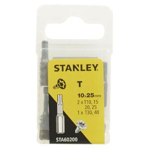 Stanley Fatmax 10Pc Mixed Torx 25mm - STA60200-XJ