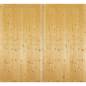Timber Side Hung Garage Door - 981mm Wide & 2134mm High