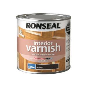 Ronseal Interior Varnish Satin Walnut - 250ml
